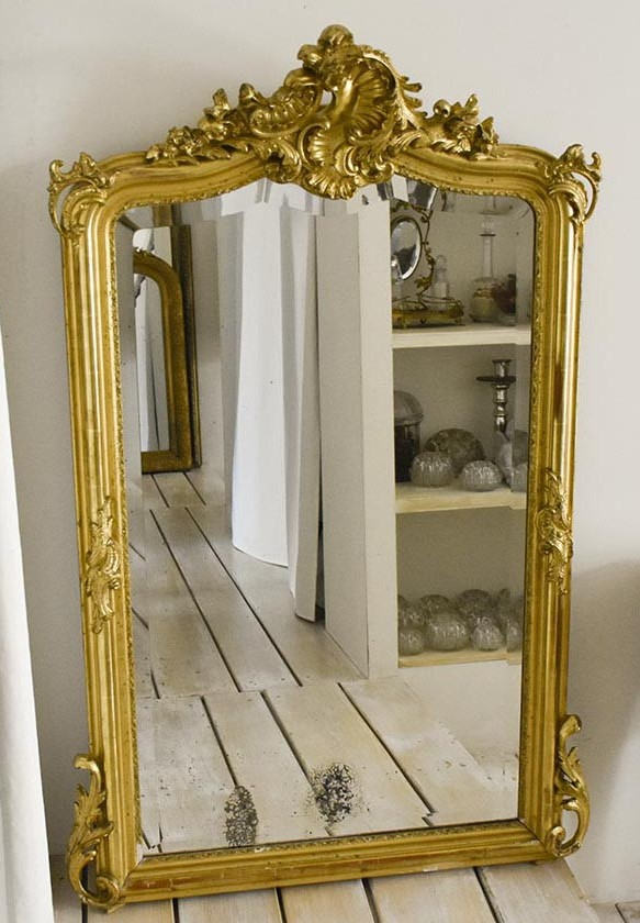 Sublime-Miroir-ancien-Louis-XV